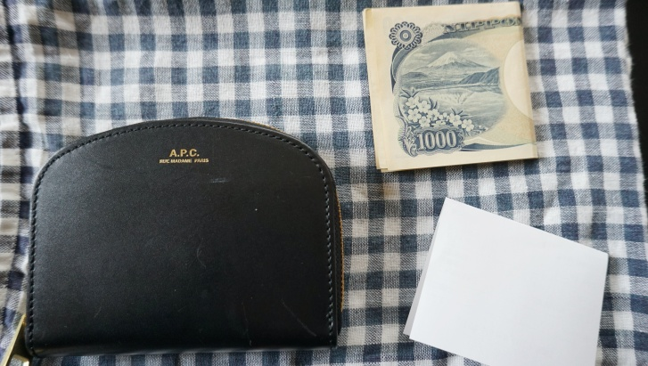 財布とレシート